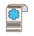 medical history file report design vector image