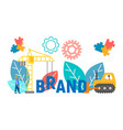 oncept brand creation and development vector image vector image