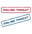 Online Threat Rubber Stamps vector image vector image