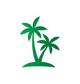 palm tree sign logo vector image vector image