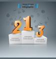 pedestal for winners - business infographic one vector image