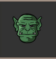 portrait of an orc in a vector image