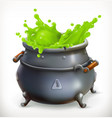 pot witch kitchen happy halloween 3d icon vector image