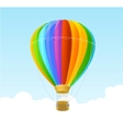 rainbow air ballon background vector image vector image
