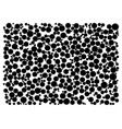 random dots on white background vector image vector image