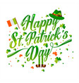 saint patrick s day background in green vector image vector image