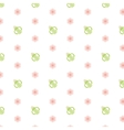 Seamless baby pattern Feeding bottle vector image