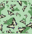 seamless pattern with machaon butterflies image vector image vector image