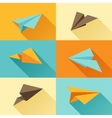 set paper planes in flat design style vector image vector image