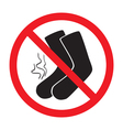 sign ban smelly socks vector image vector image
