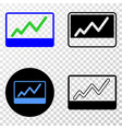 stocks chart eps icon with contour version vector image vector image
