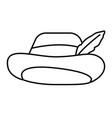 stylish hat cartoon vector image