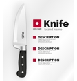 Swiss made knife ad template