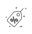 tag sale icon design vector image