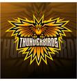 thunder birds esport mascot logo design vector image