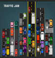traffic jam concept vector image vector image