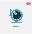 two color long play icon from music concept vector image