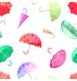 umbrella pattern colorful umbrellas autumn vector image vector image