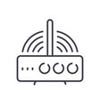 wireless router line icon sig vector image vector image