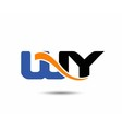 WY initial company group logo vector image vector image