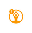 yoga security logo icon design vector image vector image