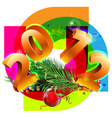 new year decorative vector image