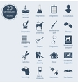 Set veterinary icons Number - 20 vector image
