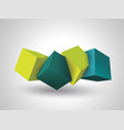 abstract composition of 3d cubes vector image vector image