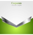 Abstract corporate background with metallic arrow vector image vector image