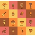 Africa Icons Line Flat vector image vector image