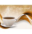 Background with coffe cup vector image vector image