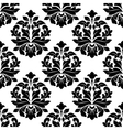 black and white floral damask pattern vector image vector image