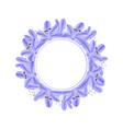 blue purple agapanthus banner wreath vector image vector image