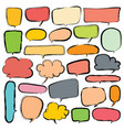 bubbles set doodle style comic balloon cloud vector image