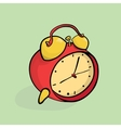 Cartoon alarm clock isometric vector image