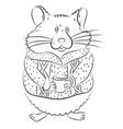 cartoon image of cute hamster vector image vector image