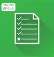 checklist icon business concept checklist diagram vector image