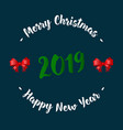 christmas and new year card with fir branches vector image vector image