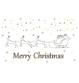 Christmas gift boxes decorated in a sleigh doodle vector image vector image