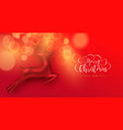 christmas new year red 3d deer toy greeting card vector image vector image