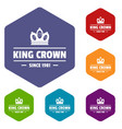 classic king icons hexahedron vector image vector image