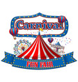 colorful carnival funfair banner vector image