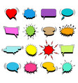comic colorful blank speech bubbles set vector image vector image