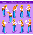 Construction 01 People Isometric vector image vector image