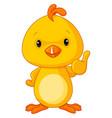 cute yellow bachicken vector image