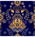 Dark blue indian seamless pattern vector image vector image