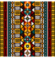 Ethnic background with tribal motifs vector image