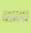 farm production word concepts banner vector image