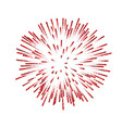 firework isolated beautiful red salute on white vector image vector image