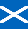 flag of scotland in national colors vector image